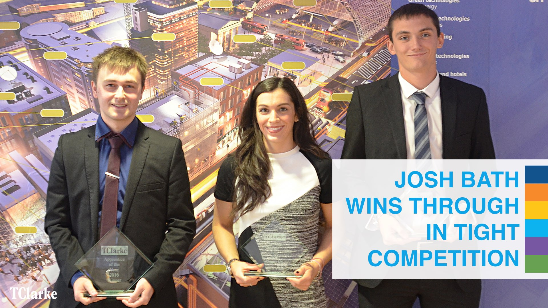 TClarke board congratulates Josh Bath - our Apprentice of the Year