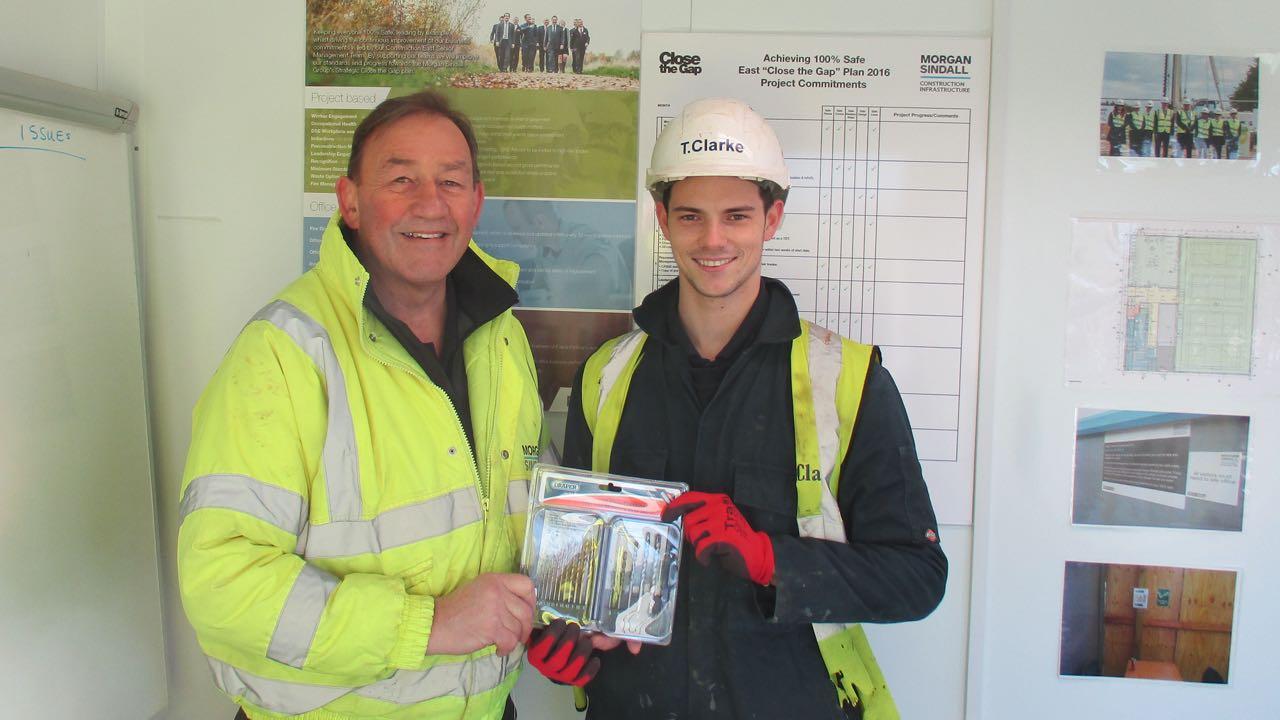 Chad Payne recognised by Morgan Sindall