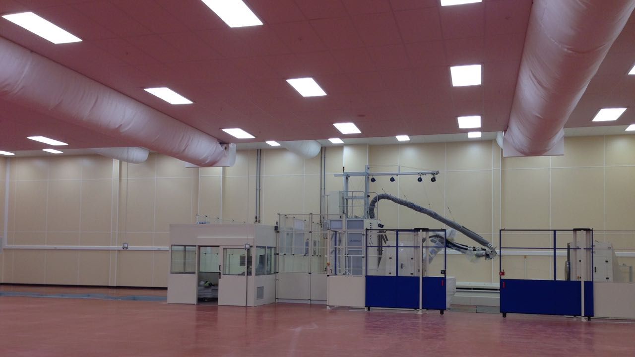 Large clean room for new world class Aerospace client