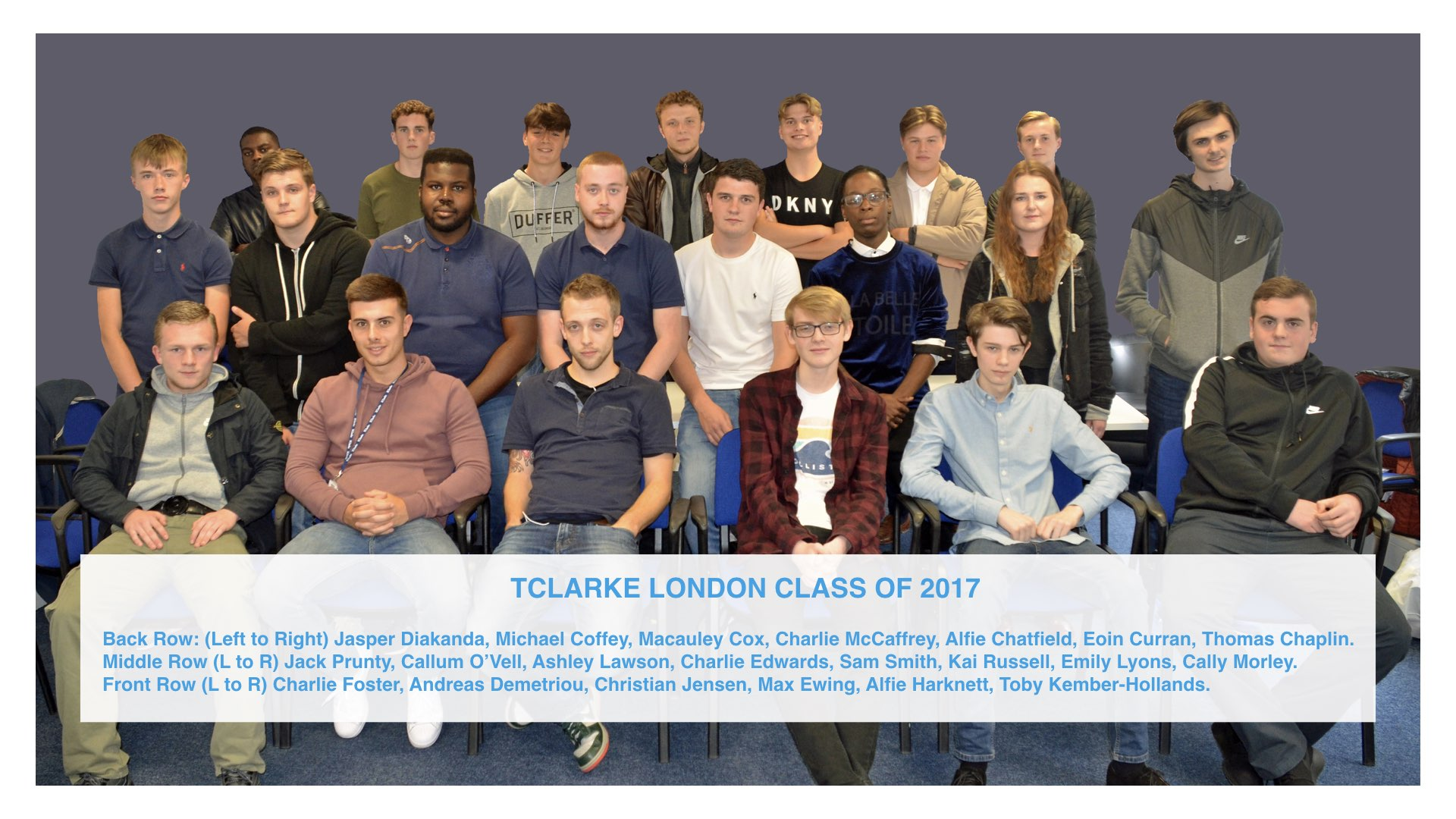 John Burrows and Jo Lacey-Smith introduce London's class of 2017