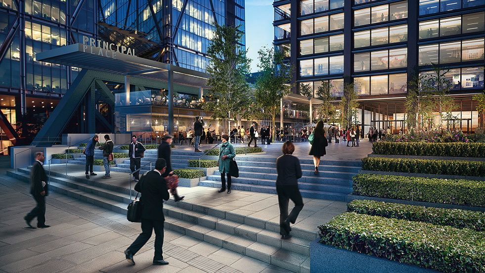 600,000 Square foot 15 Storey Bishopsgate mixed used development win
