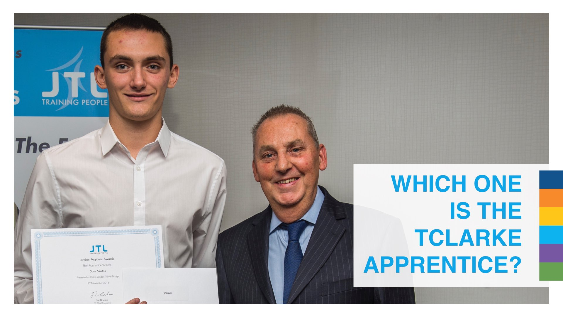Sam Skates wins regional JTL Apprentice of the Year award