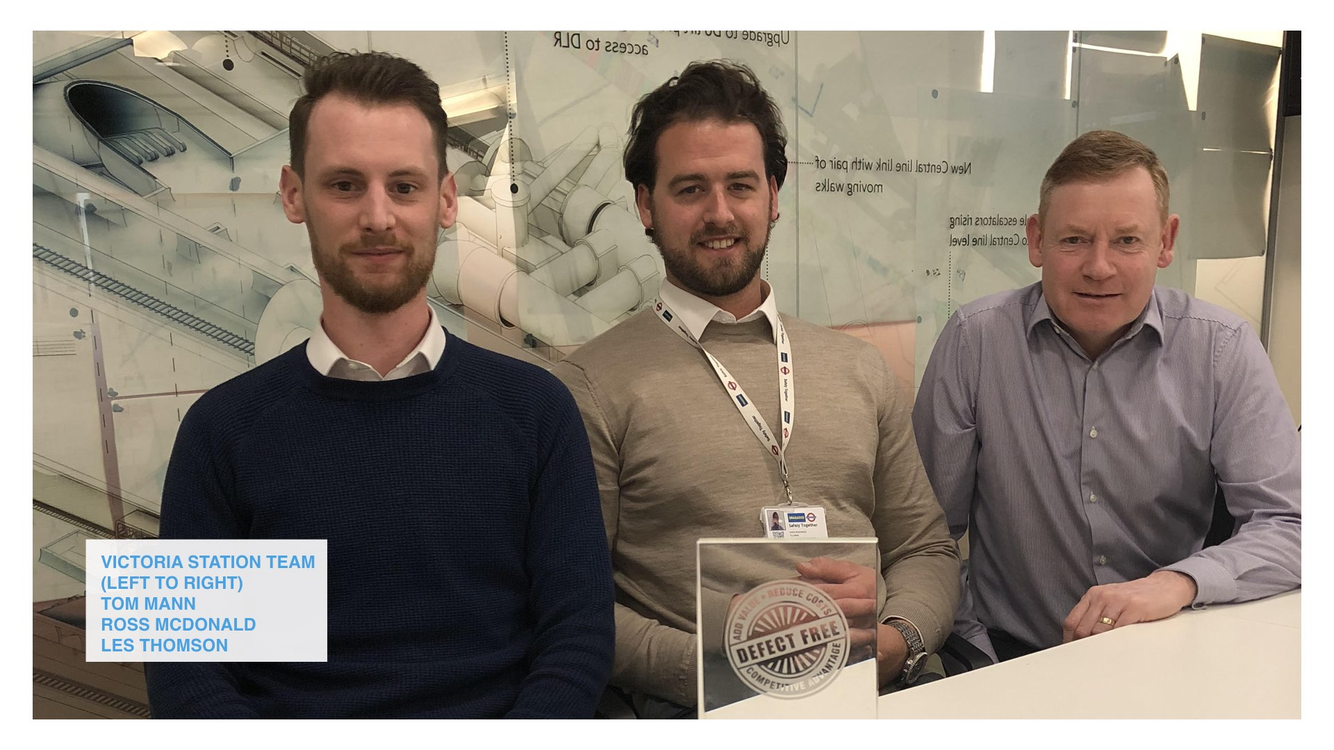 Our Victoria Station Upgrade team wins Taylor Woodrow 'Defect Free' Award